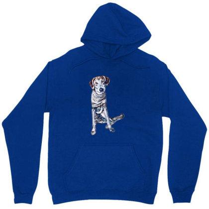 Lonely Large Crossbreed Dog W Unisex Hoodie Designed By Kemnabi