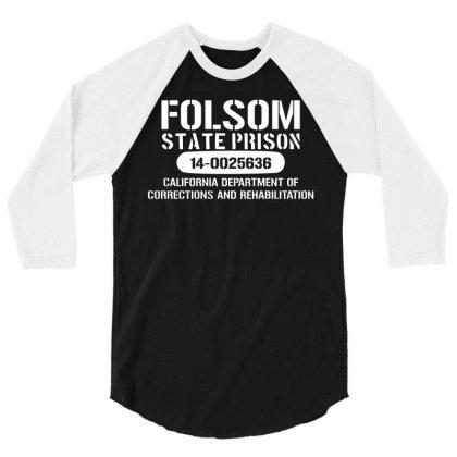 Folsom Prison T Shirt   Funny T Shirt Retro Country Fashion Cash Blues 3/4 Sleeve Shirt Designed By G3ry