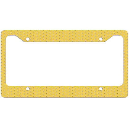 Flower License Plate Frame Designed By Disgus_thing