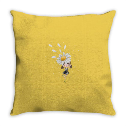 Flower Throw Pillow Designed By Disgus_thing
