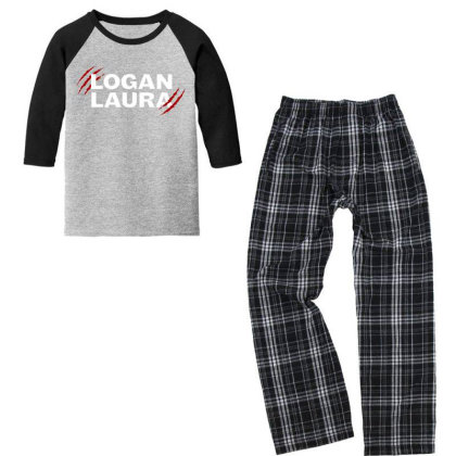 Team Logan Laura Youth 3/4 Sleeve Pajama Set Designed By Feniavey