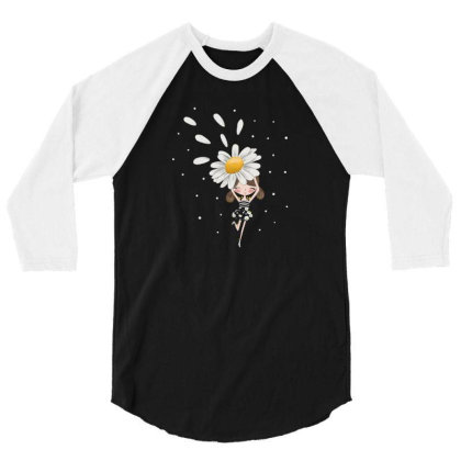 Flower 3/4 Sleeve Shirt Designed By Disgus_thing