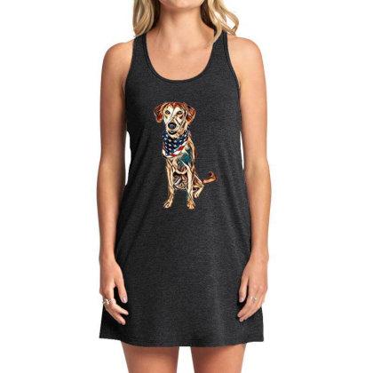 Happy Crossbreed Dog Wearing Tank Dress Designed By Kemnabi