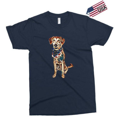 Happy Crossbreed Dog Wearing Exclusive T-shirt Designed By Kemnabi