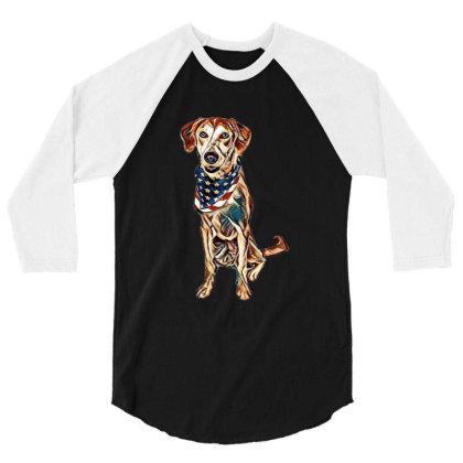 Happy Crossbreed Dog Wearing 3/4 Sleeve Shirt Designed By Kemnabi