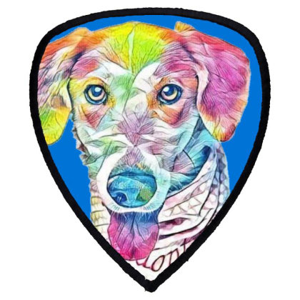 Closeup Image Of Rescue Dog W Shield S Patch Designed By Kemnabi