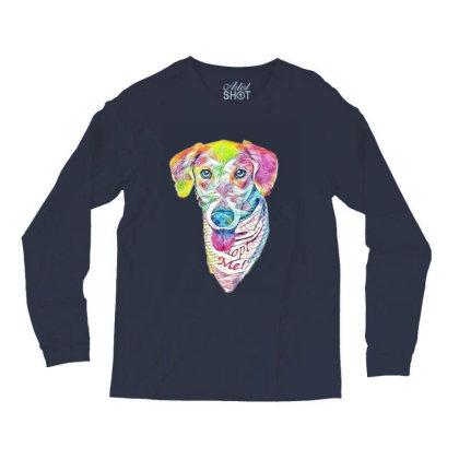 Closeup Image Of Rescue Dog W Long Sleeve Shirts Designed By Kemnabi
