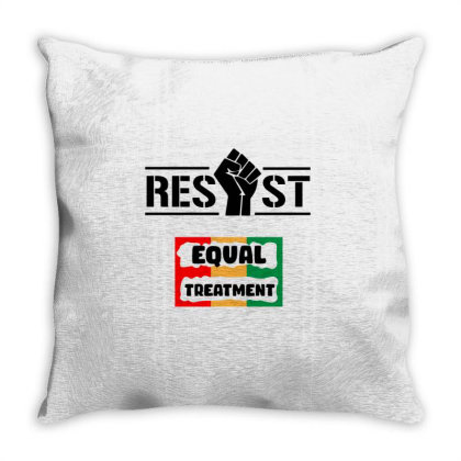 Resist Equal Treatment Throw Pillow Designed By Qudkin