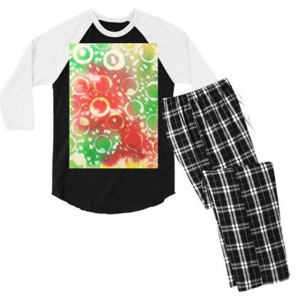 Beach Fun Men's 3/4 Sleeve Pajama Set Designed By Artvibes