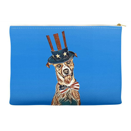 Funny Dog Wearing American Fl Accessory Pouches Designed By Kemnabi