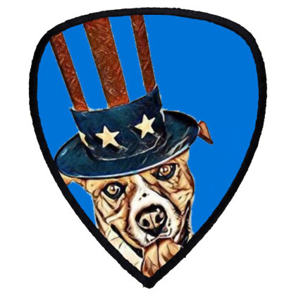 Funny Dog Wearing American Fl Shield S Patch Designed By Kemnabi