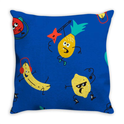 Fruits Throw Pillow Designed By Disgus_thing