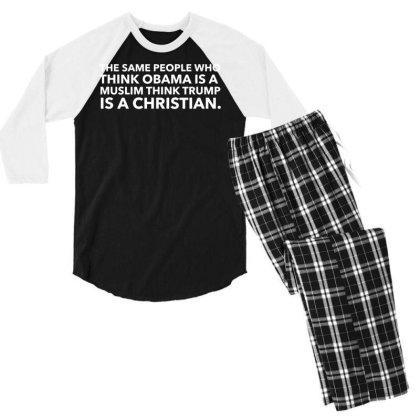 Funny Anti Trump T Shirt Resist Democrat Liberals Impeach Vintage Men Men's 3/4 Sleeve Pajama Set Designed By G3ry