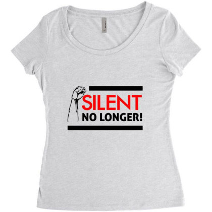 Silent No Longer! Women's Triblend Scoop T-shirt Designed By Qudkin