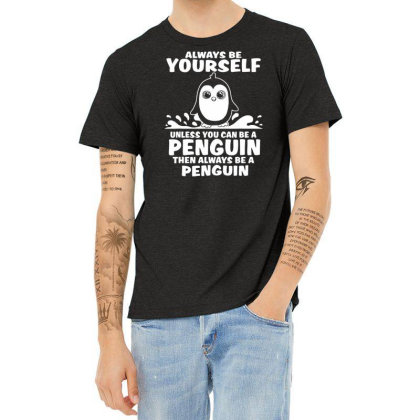 Funny Cute Penguin Themed Gift T Shirt Heather T-shirt Designed By G3ry