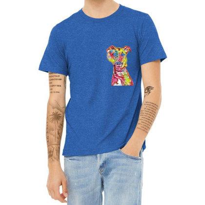 Funny Dog Holding Magnifying Heather T-shirt Designed By Kemnabi