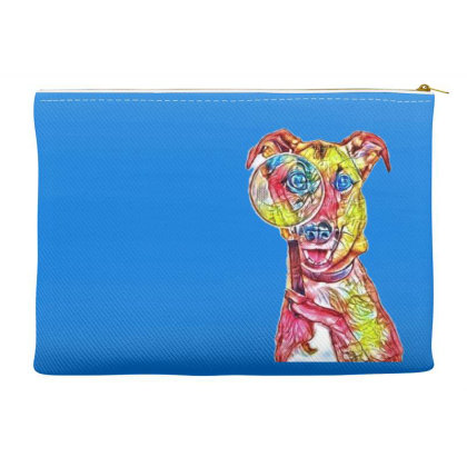 Funny Dog Holding Magnifying Accessory Pouches Designed By Kemnabi