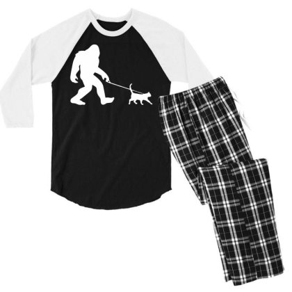 Funny Cute Sasquatch Gift T Shirt Vintage Gift For Men Women Funny Tee Men's 3/4 Sleeve Pajama Set Designed By G3ry