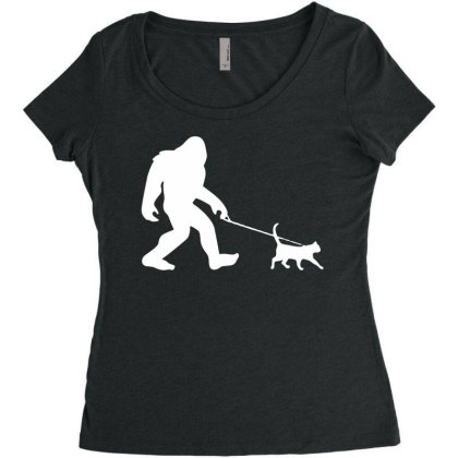 Funny Cute Sasquatch Gift T Shirt Vintage Gift For Men Women Funny Tee Women's Triblend Scoop T-shirt Designed By G3ry