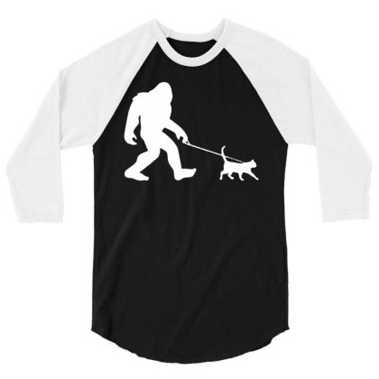 Funny Cute Sasquatch Gift T Shirt Vintage Gift For Men Women Funny Tee 3/4 Sleeve Shirt Designed By G3ry