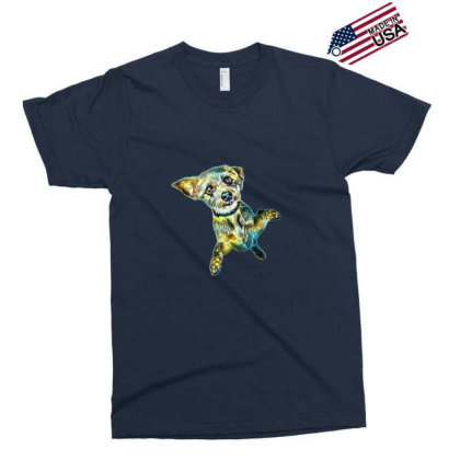 Cute Little Dog Standing On H Exclusive T-shirt Designed By Kemnabi