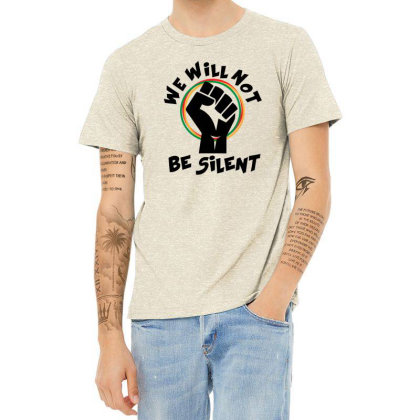 We Will Not Be Silent Heather T-shirt Designed By Qudkin