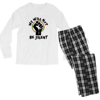 We Will Not Be Silent Men's Long Sleeve Pajama Set Designed By Qudkin
