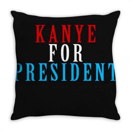 Kanyee For President 2020 Throw Pillow Designed By Otak Atik