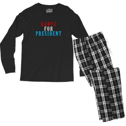 Kanyee For President 2020 Men's Long Sleeve Pajama Set Designed By Otak Atik