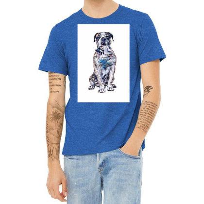 Funny Photo Of Thirsty Dog Wi Heather T-shirt Designed By Kemnabi