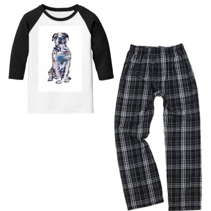 Funny Photo Of Thirsty Dog Wi Youth 3/4 Sleeve Pajama Set Designed By Kemnabi