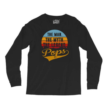 Funny Father Pops T Shirt Long Sleeve Shirts Designed By G3ry