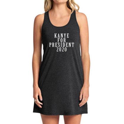 Kanyee For President 2020 White Design Tank Dress Designed By Otak Atik