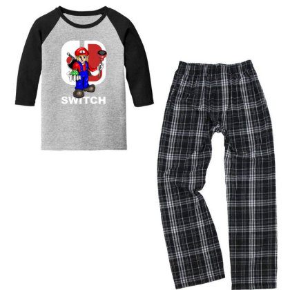 Switch Youth 3/4 Sleeve Pajama Set Designed By Feniavey