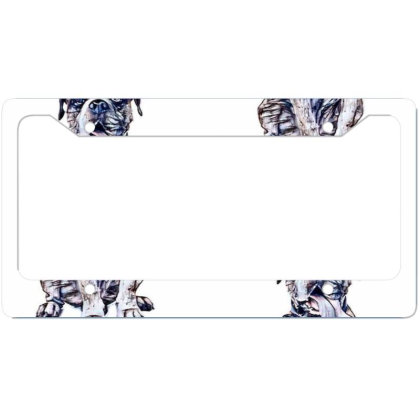 Funny Photo Of Thirsty Dog Wi License Plate Frame Designed By Kemnabi