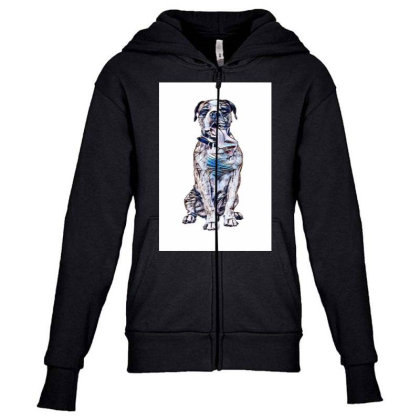 Funny Photo Of Thirsty Dog Wi Youth Zipper Hoodie Designed By Kemnabi