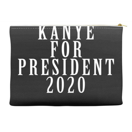 Kanyee For President 2020 White Design Accessory Pouches Designed By Otak Atik