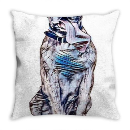 Funny Photo Of Thirsty Dog Wi Throw Pillow Designed By Kemnabi
