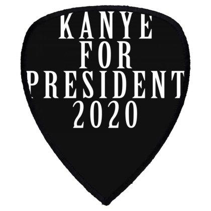 Kanyee For President 2020 White Design Shield S Patch Designed By Otak Atik