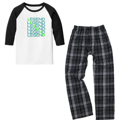 Sports Youth 3/4 Sleeve Pajama Set Designed By Taxil
