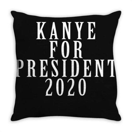 Kanyee For President 2020 White Design Throw Pillow Designed By Otak Atik