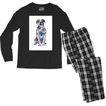 Funny Photo Of Thirsty Dog Wi Men's Long Sleeve Pajama Set Designed By Kemnabi