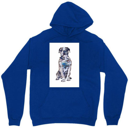 Funny Photo Of Thirsty Dog Wi Unisex Hoodie Designed By Kemnabi