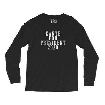 Kanyee For President 2020 White Design Long Sleeve Shirts Designed By Otak Atik