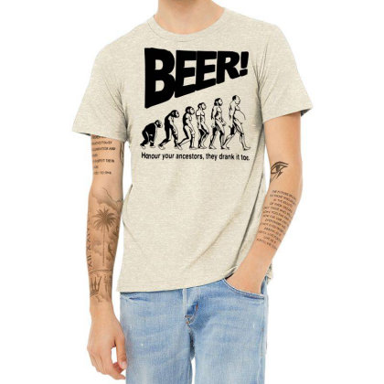 Funny Mens T Shirts = Novelty Joke Printed Clothing = Beer Heather T-shirt Designed By G3ry