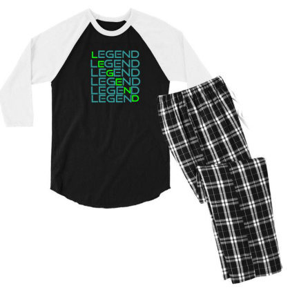 Sports Men's 3/4 Sleeve Pajama Set Designed By Taxil