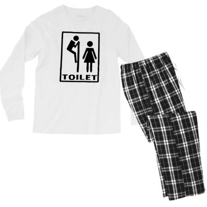 Funny Mens T Shirts = Novelty Joke Printed Clothing = Toilet Men's Long Sleeve Pajama Set Designed By G3ry