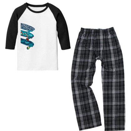 Skate Youth 3/4 Sleeve Pajama Set Designed By Disgus_thing