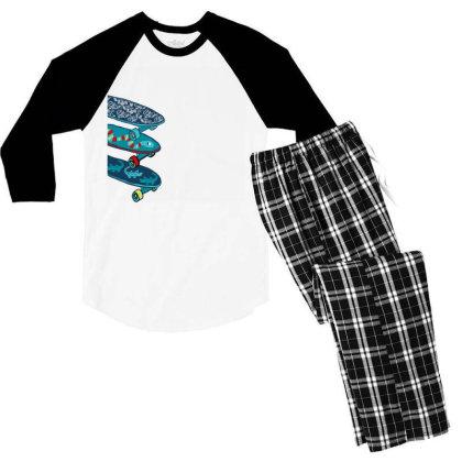 Skate Men's 3/4 Sleeve Pajama Set Designed By Disgus_thing