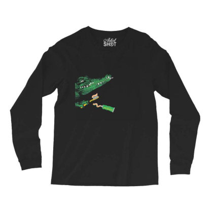 Crocodile Long Sleeve Shirts Designed By Disgus_thing